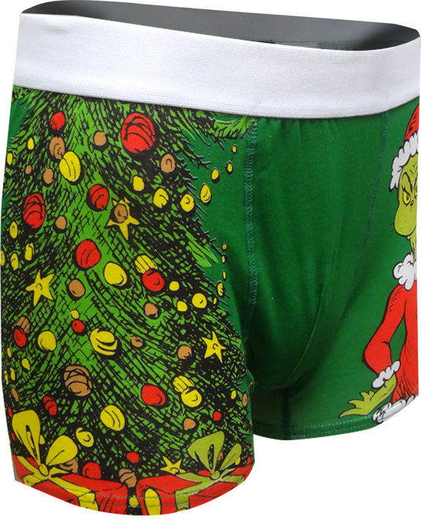 Dr. Seuss the Grinch and Max Christmas Boxer Brief