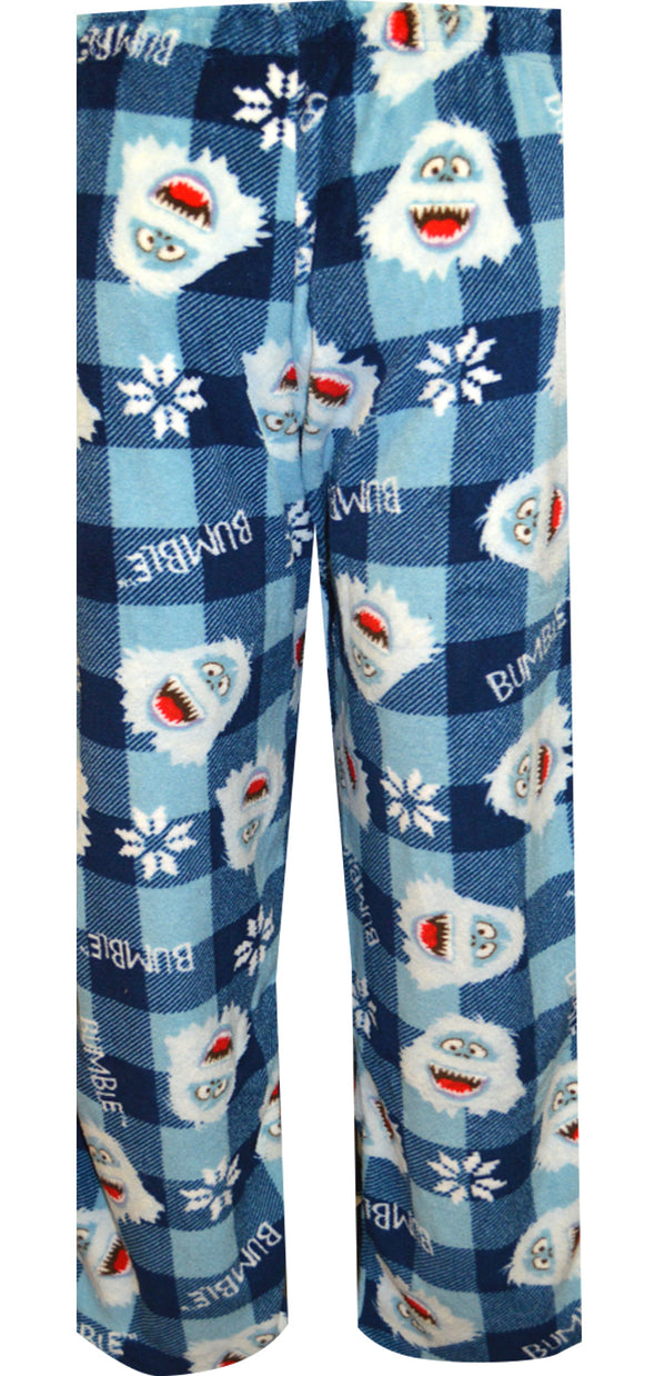 Rudolph The Red-Nosed Reindeer Bumble Plush Plaid Lounge Pants