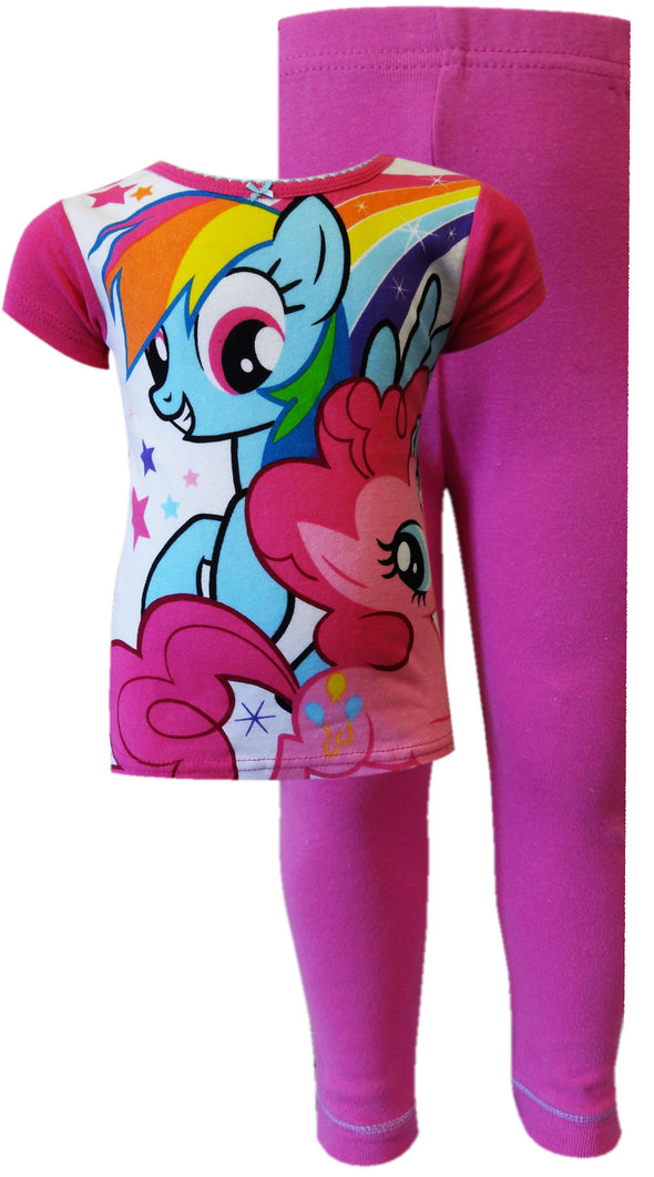 My Little Pony Pinkie Pie and Rainbow Dash Cotton Toddler Pajama
