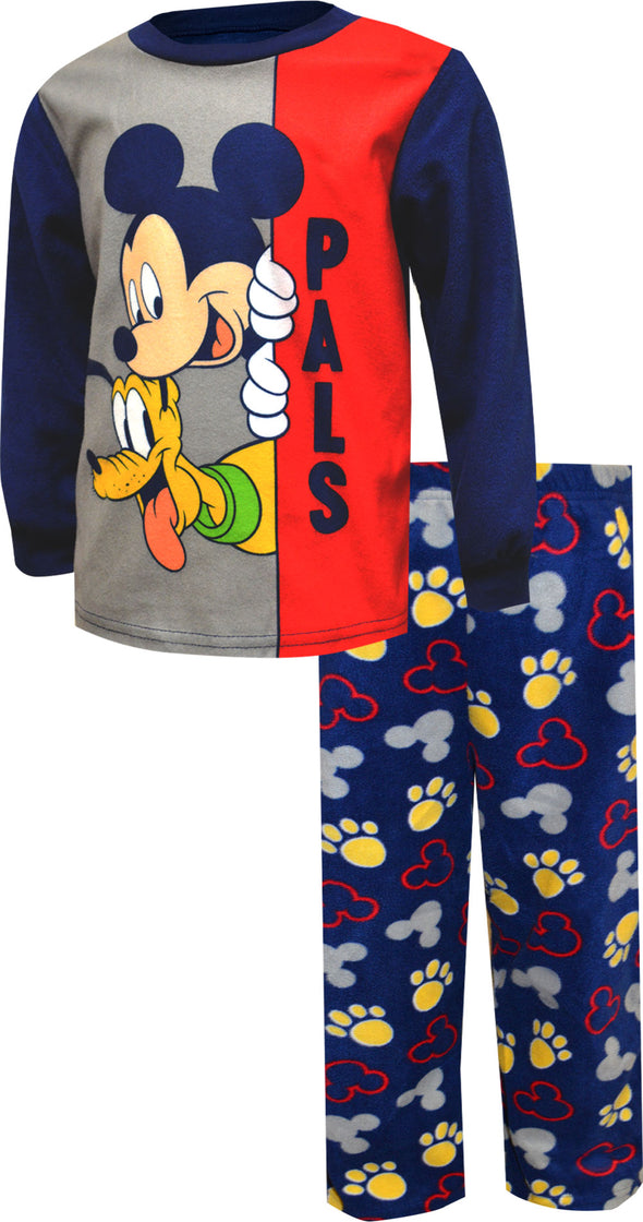 Disney Junior Mickey Mouse and Pluto Fleece Toddler Pajamas
