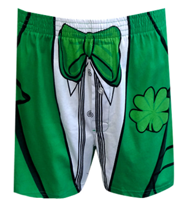 Green Tie Tuxedo Dinner Jacket Lucky Day Boxers