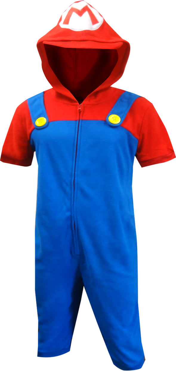 Nintendo Super Mario Cropped Leg One Piece Pajama