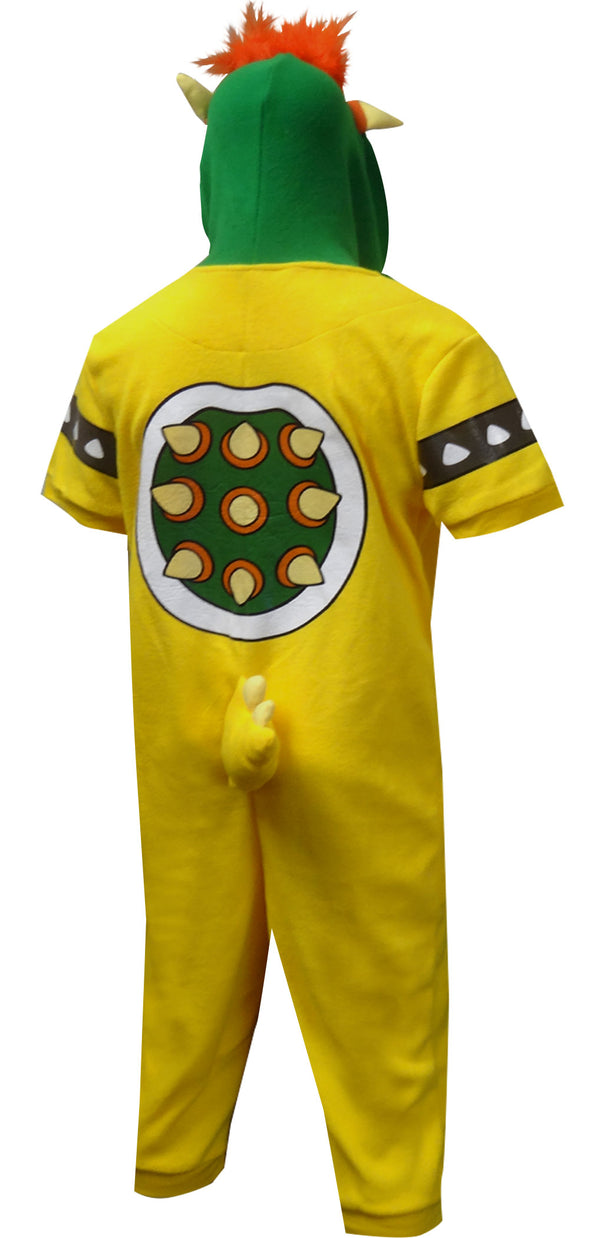 Nintendo Super Mario Bowser Cropped Leg One Piece Pajama