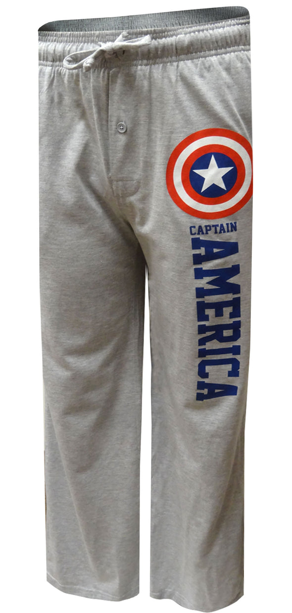 Marvel Avengers Captain America Gray Lounge Pants Small