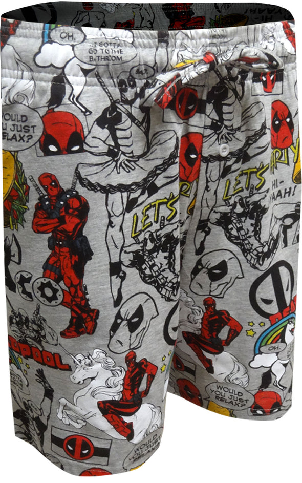 Marvel Comics Deadpool Phrases Lounge Shorts