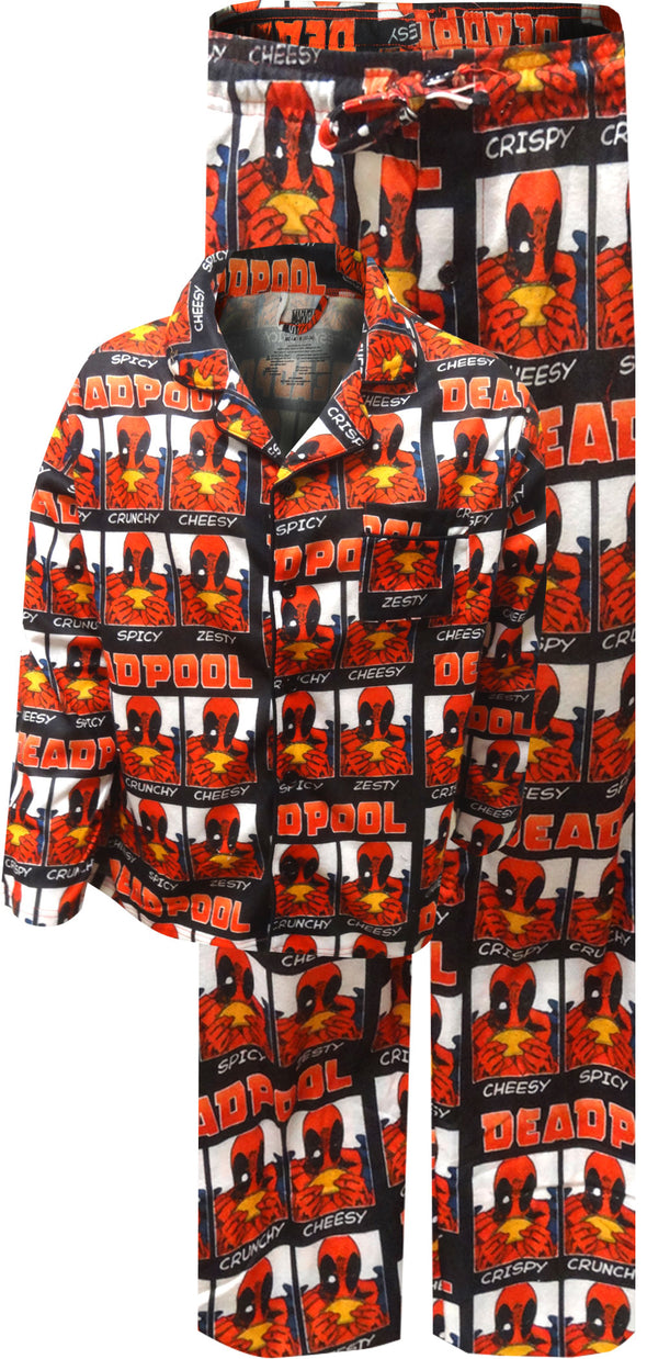 Marvel Comics Deadpool and Tacos Traditional Pajamas