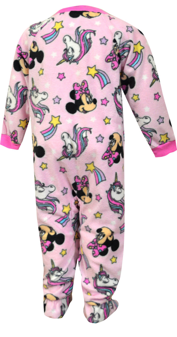 Disney Minnie Mouse and Penelope Footie Infant Blanket Sleeper Pajamas