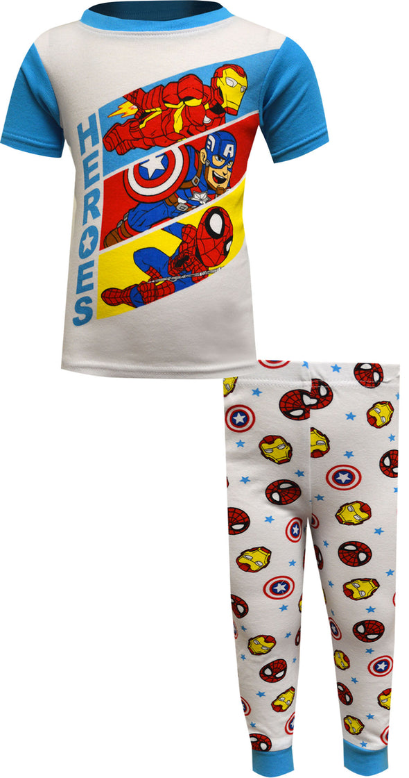 Marvel Comics Avengers Cotton Toddler Pajamas