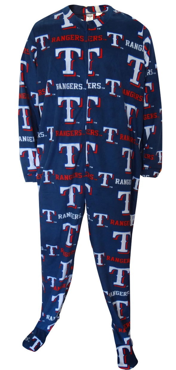 Texas Rangers Guys One Piece Footie Pajama