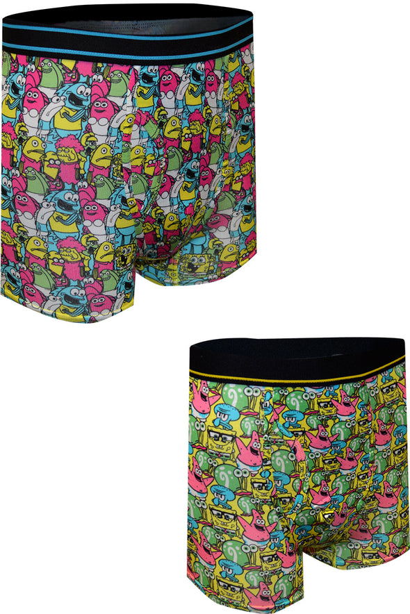 SpongeBob Squarepants Cast of Characters Boxer Briefs 2 Pack