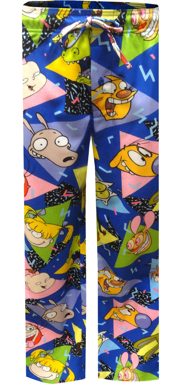 Nickelodeon Rewind Rugrats Ren and Stimpy Flannel Lounge Pant