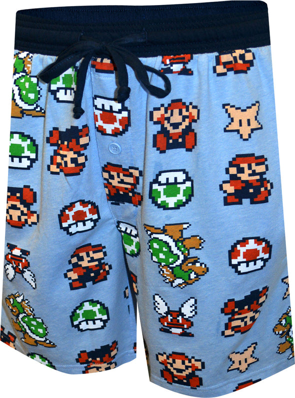 Super Mario Power Ups Long Sleep Shorts