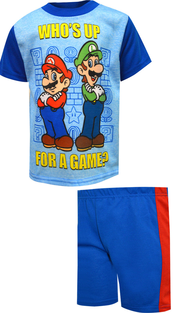 Super Mario Who's Up For a Game Pajamas
