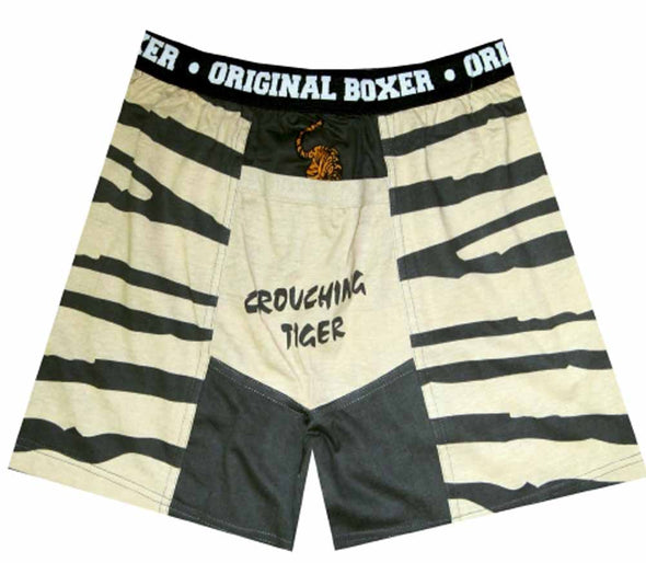 Crouching Tiger in Your Shorts Boxer Shorts in Size (Small)