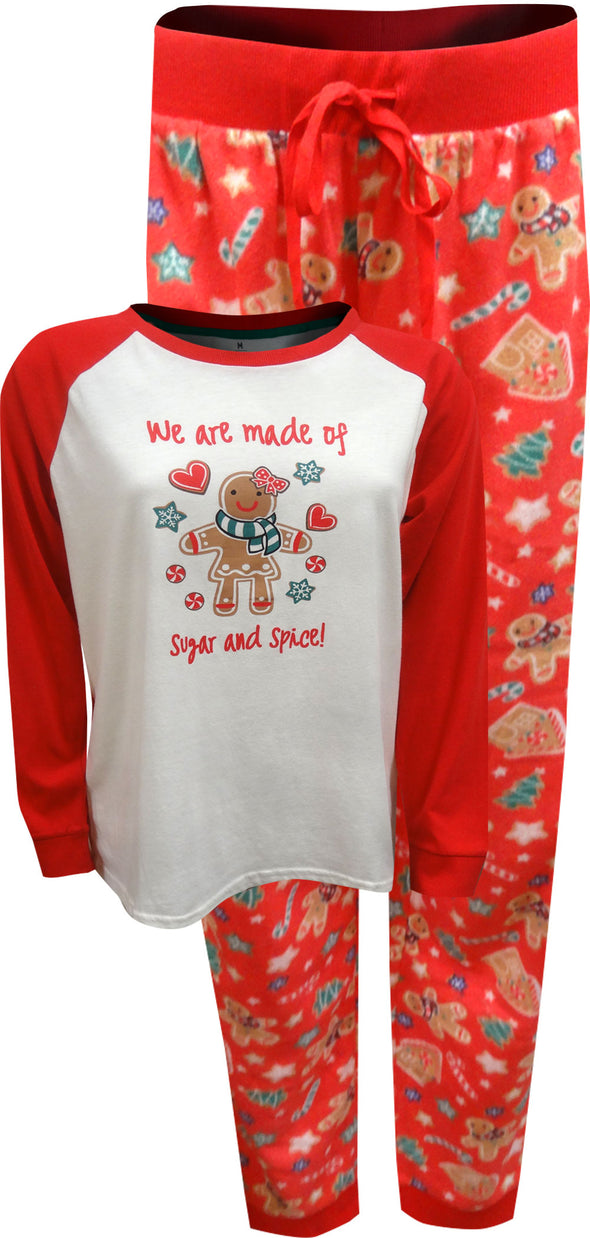 Gingerbread Cookie Sugar and Spice Ladies Christmas Pajama