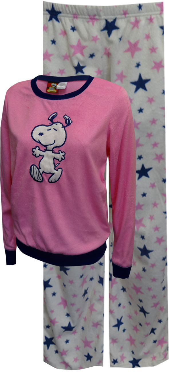 Peanuts Snoopy Dancing with Stars Soft Velvety Pajama Size Large