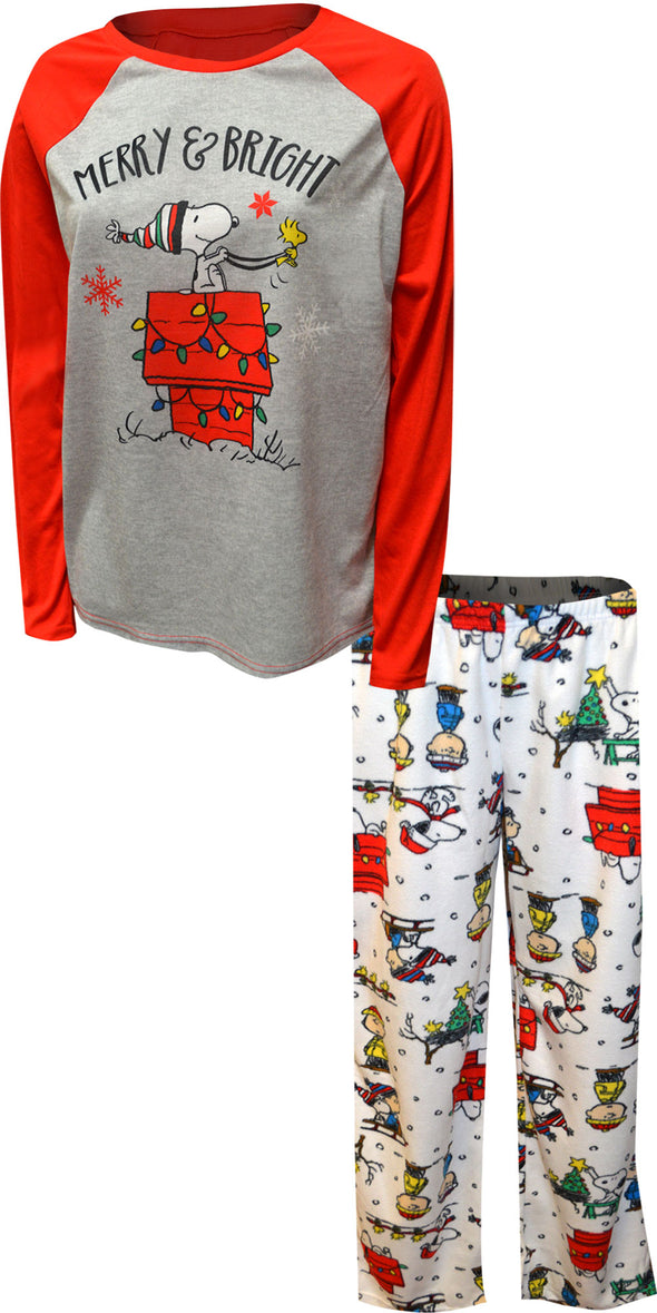 Peanuts Snoopy Merry and Bright Ladies Pajama