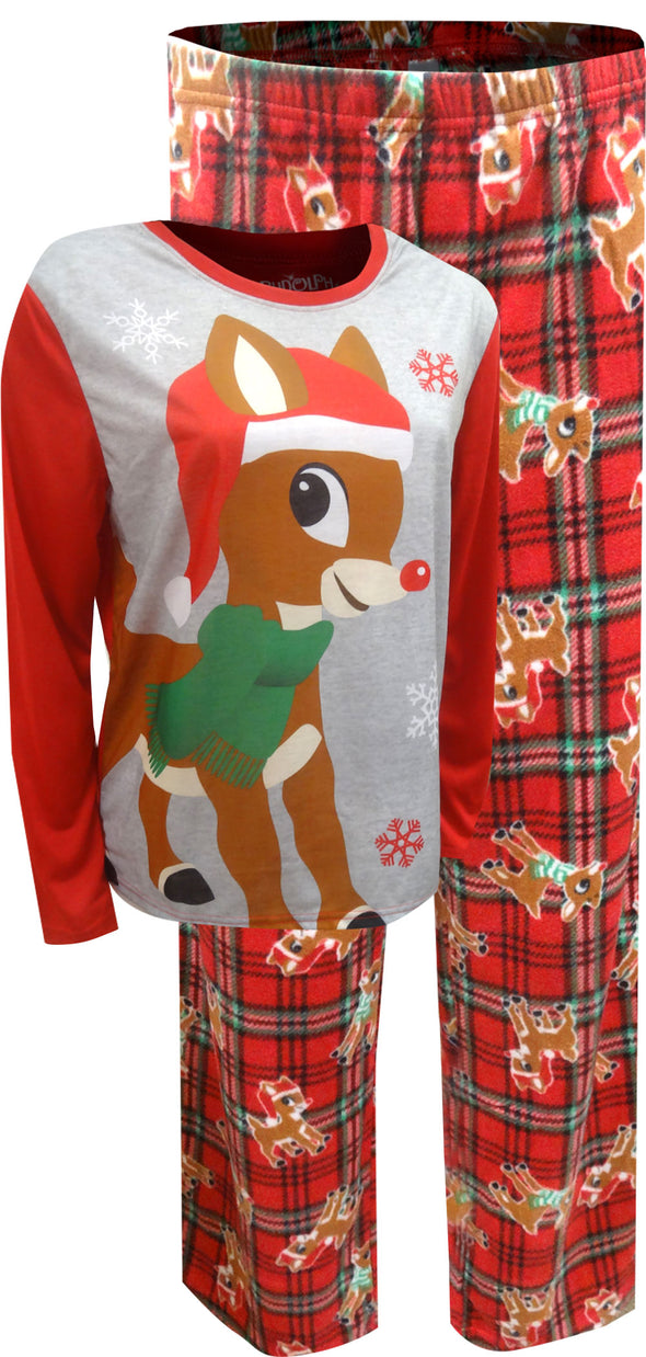 Rudolph The Red-Nosed Reindeer Plus Size Christmas Pajama