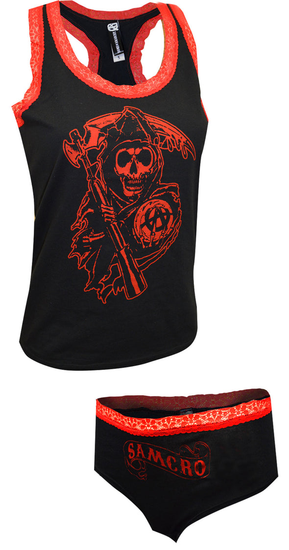 Sons of Anarchy Lace Trim Tank and Panty Set