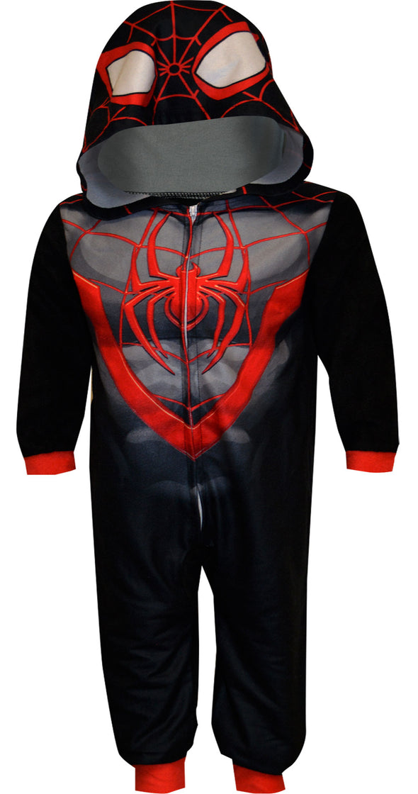 Spiderman Fleece Blanket Sleeper Pajamas with Hood