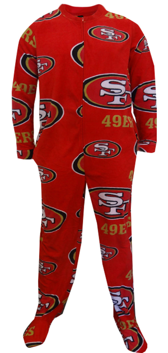 San Francisco 49ers Mens One Piece Footie Pajama