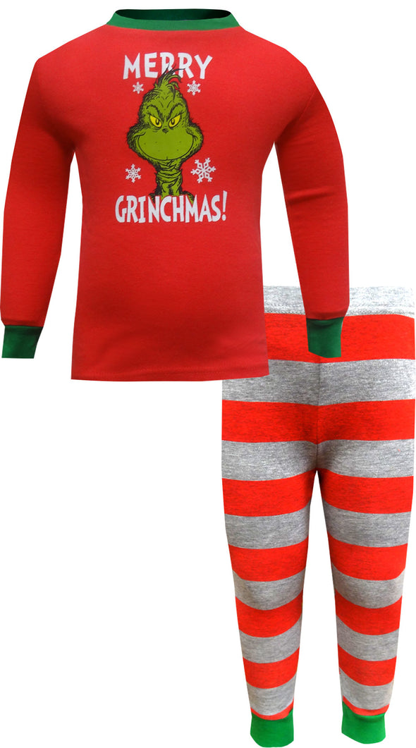 Dr. Seuss The Grinch Merry Grinchmas Toddler Girls Pajamas