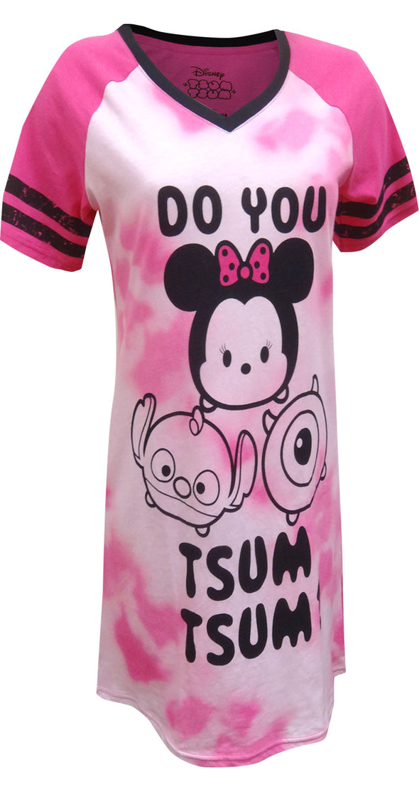 Disney Do You Tsum Tsum Minnie, Stitch and Mike Night Shirt