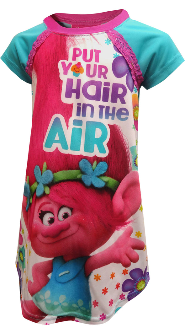 Dreamworks Movie Trolls Put Your Hair Up Nightgown