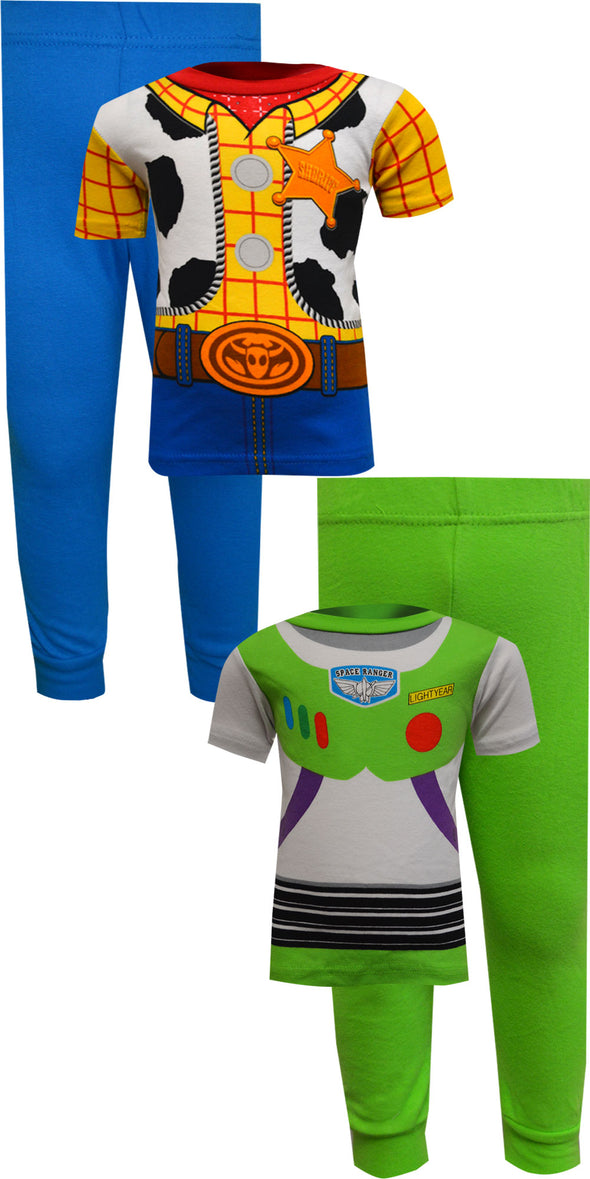 Toy Story Buzz Lightyear and Woody Cotton 4 Pc Toddler Pajamas