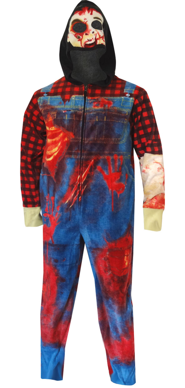 Zombie Farmer Costume Onesie Union Suit Pajama