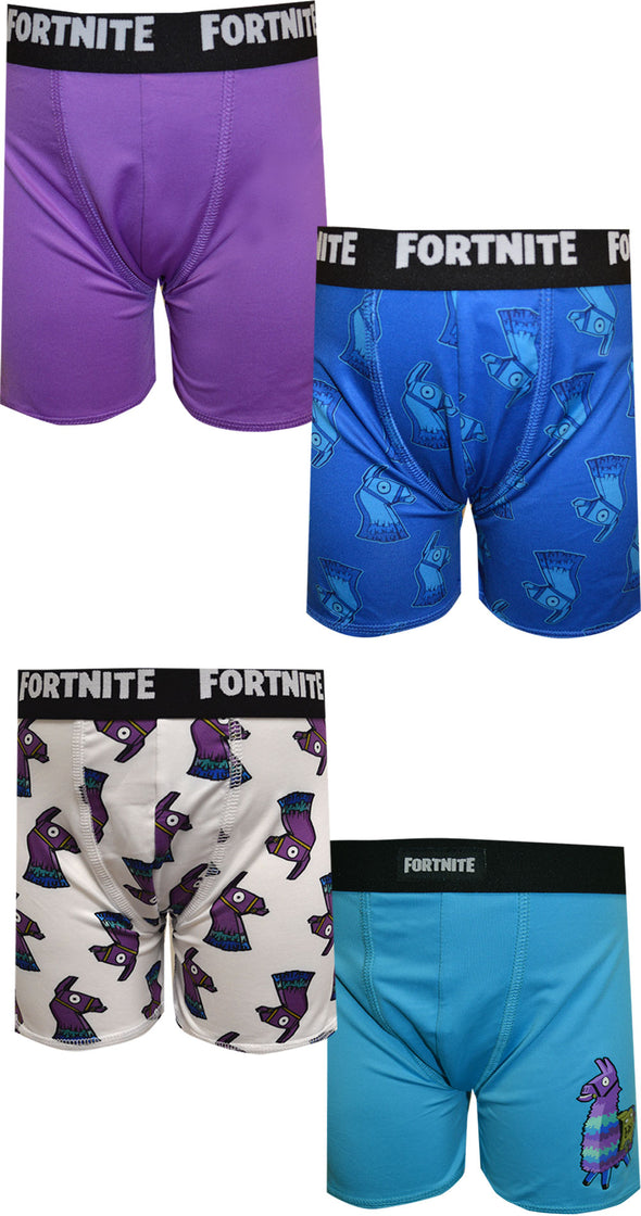 Fortnite Loot Llama 4 Pack Performance Boxer Briefs