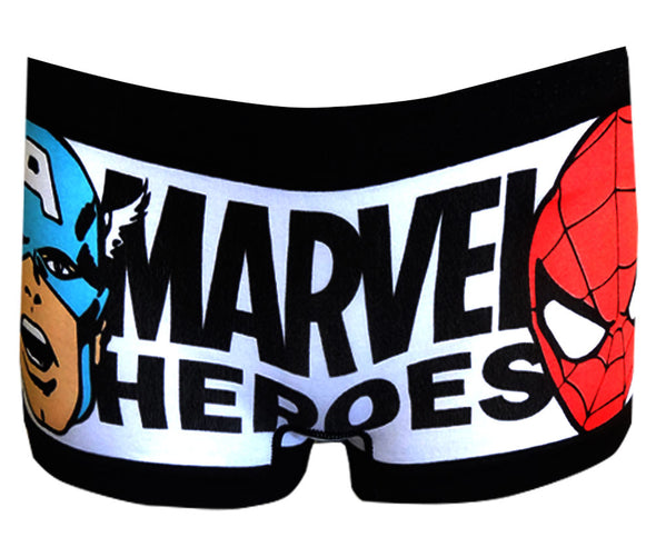 Marvel Comics Heroes Spidey and Captain America Boyshort Panty