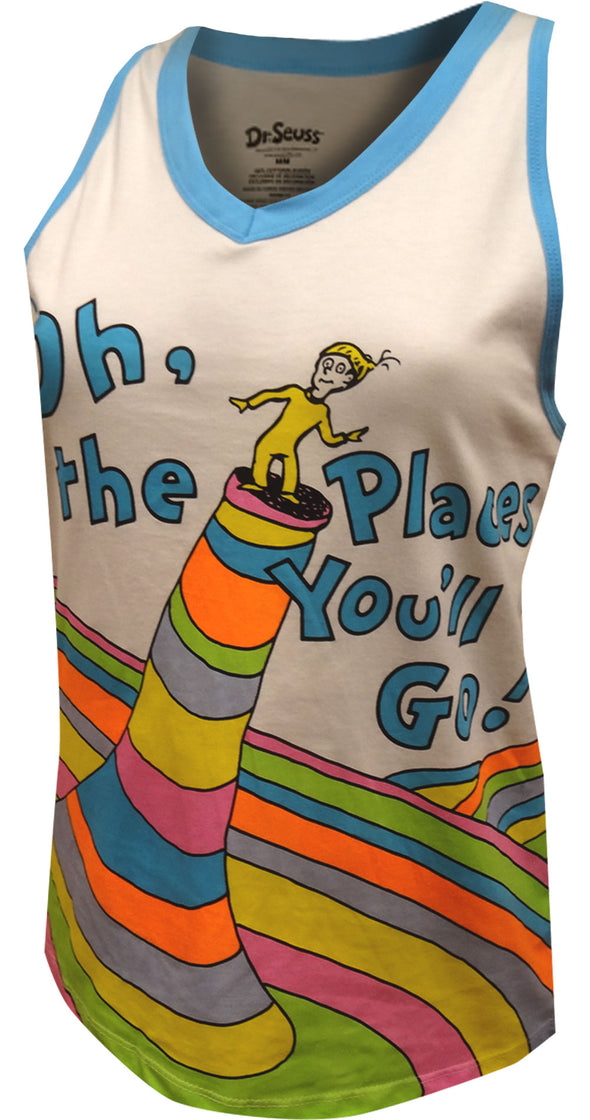 Dr. Seuss Oh The Places You'll Go Tank Top