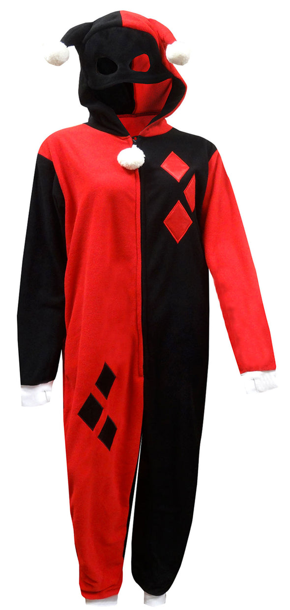 DC Comics Harley Quinn One Piece Pajama with Drop Seat