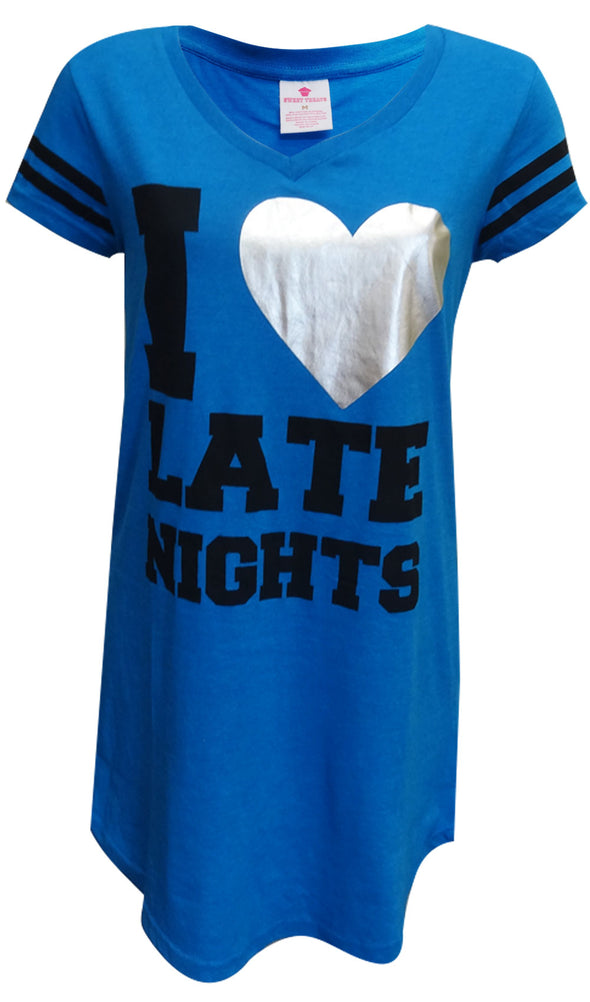 Night Owl I Love Late Nights Night Shirt Size Medium