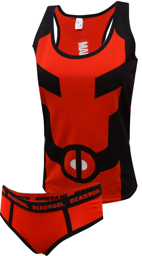 Marvel Comics Deadpool Tank & Hipster Panty Set