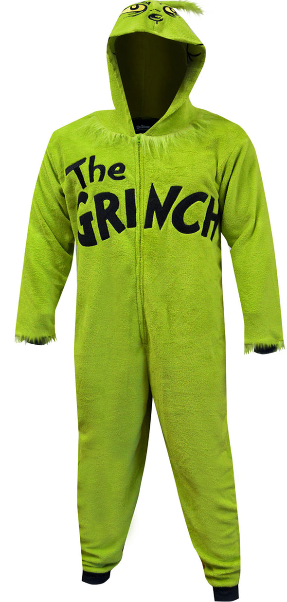 Dr Seuss The Grinch Plush Onesie Pajama