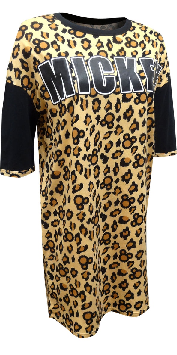 Disney's Mickey Mouse Leopard Print Plus Size Night Shirt