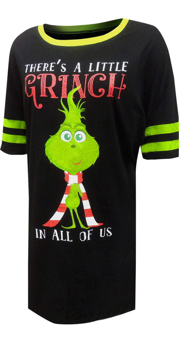 Dr. Seuss the Grinch Ladies Plus Size Nightshirt