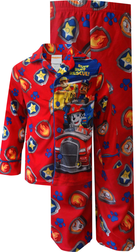 Paw Patrol Ruff Ruff Rescue Red Toddler Pajamas 2T