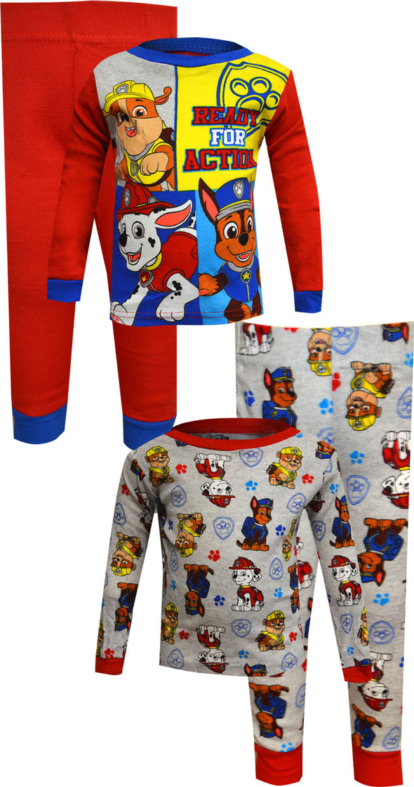 Paw Patrol Ready for Action Cotton 4 Piece Infant Pajamas