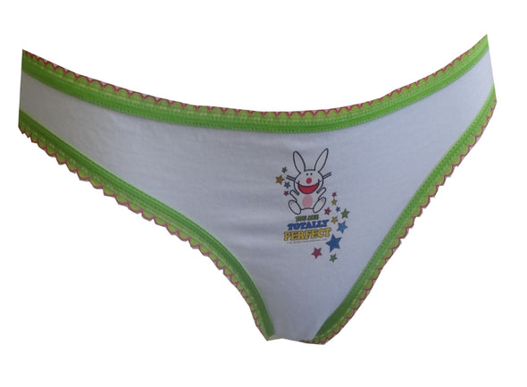 You Are Totally Perfect Bunny White Bikini Panty