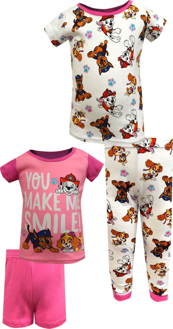Paw Patrol You Make Me Smile Cotton 4 Piece Infant Pajamas