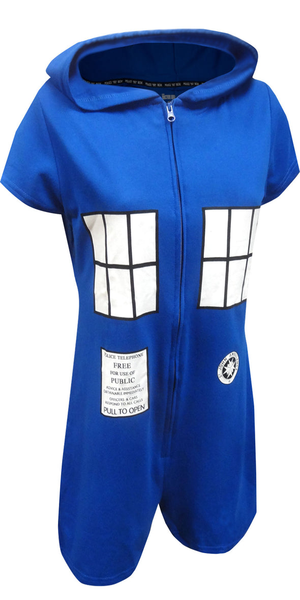 BBC Dr Who Tardis One Piece Romper with Hood