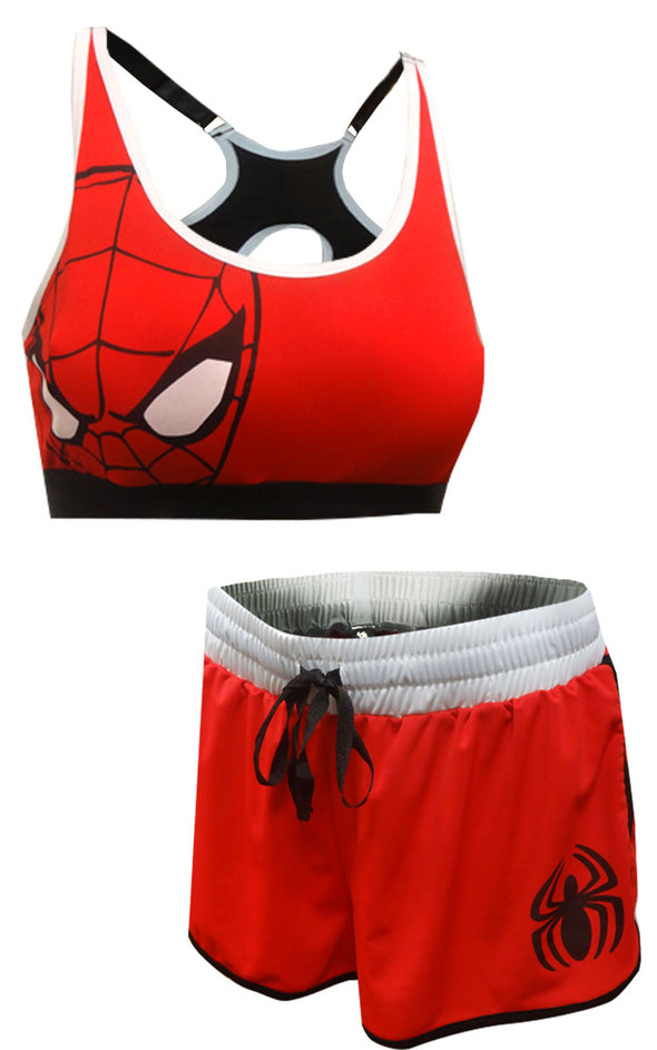 Avengers Spiderman Bra and Boxer Pajama Set