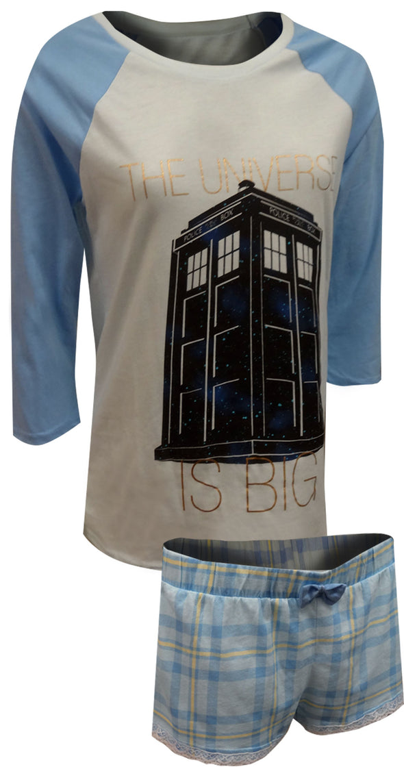 BBC Doctor Who Blue Shortie Pajama
