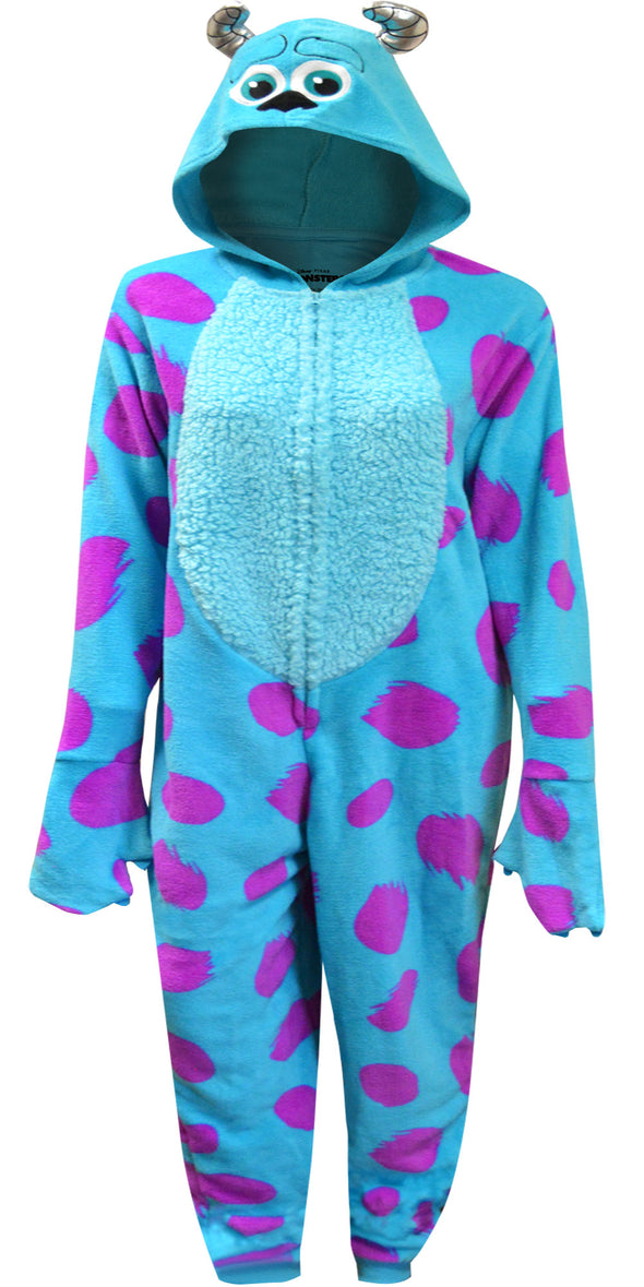 Disney Pixar Monsters Inc Sulley One Piece Hooded Pajama