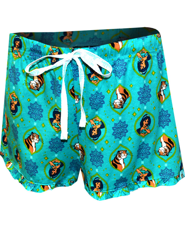 Princess Jasmine and Rajah Sleep Shorts