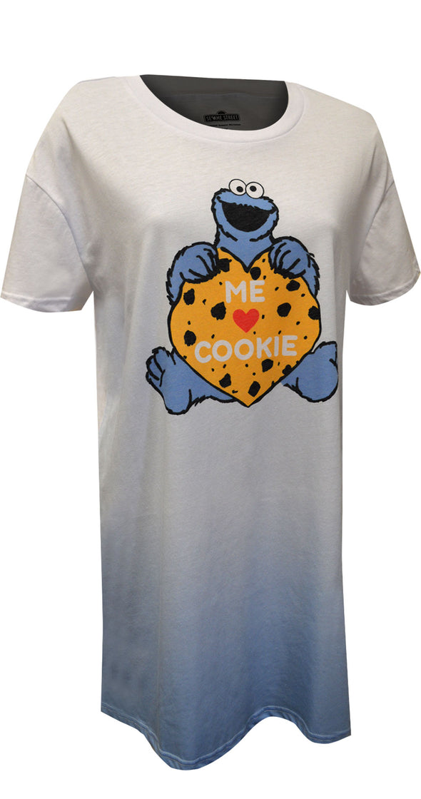 Sesame Street Cookie Monster Me Love Cookies Nightgown