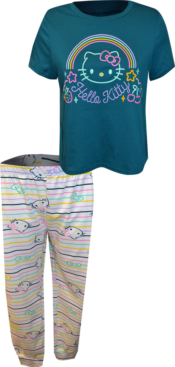 Hello Kitty Rainbow Striped Pajamas